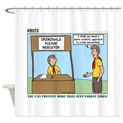 Crime Prevention Shower Curtain