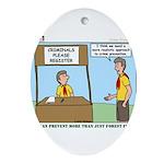 Crime Prevention Ornament (Oval)