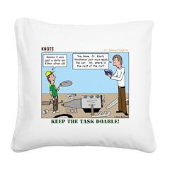 Handyman Square Canvas Pillow