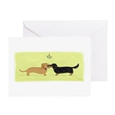 Dachshund Christmas Kiss Greeting Cards (Pk of 20)