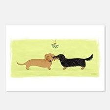 Dachshund Christmas Kiss Postcards (Package of 8)