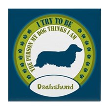 Dachshund [long-haired] Tile Coaster