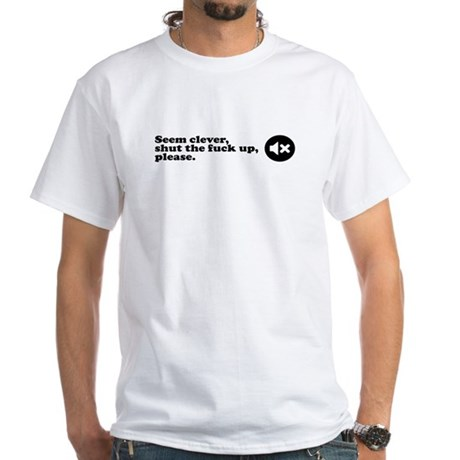 Seem clever White T-Shirt