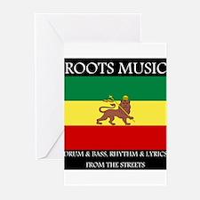 Roots Music Lion of Judah Ethiopia Flag Greeting C