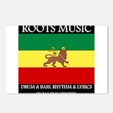 Roots Music Lion of Judah Ethiopia Flag Postcards