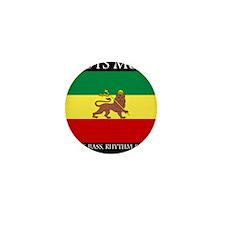 Roots Music Lion of Judah Ethiopia Flag Mini Butto