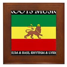 Roots Music Lion of Judah Ethiopia Flag Framed Til