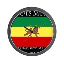 Roots Music Lion of Judah Ethiopia Flag Wall Clock