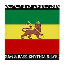 Roots Music Lion of Judah Ethiopia Flag Tile Coast