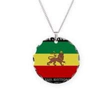 Roots Music Lion of Judah Ethiopia Flag Necklace C