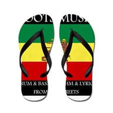 Roots Music Lion of Judah Ethiopia Flag Flip Flops