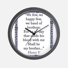 We Few, We Happy Few Wall Clock