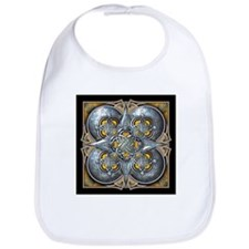 Silver & Yellow Celtic Tapestry Bib