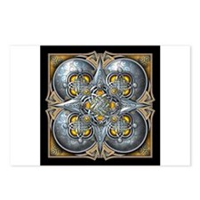 Silver & Yellow Celtic Tapestry Postcards (Package