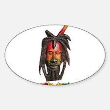 Natty Dread Rastaman Jamaican Art Figure Decal