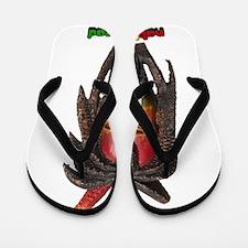 Natty Dread Rastaman Jamaican Art Figure Flip Flop