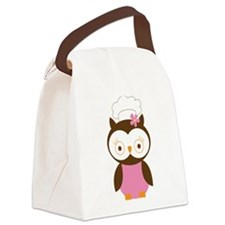 Chef Owl Baker Canvas Lunch Bag