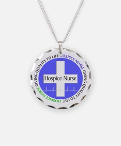 Hospice Nurse giving quality life.PNG Necklace