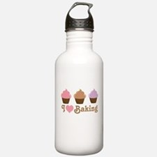 I Love Baking Cupcakes Sports Water Bottle