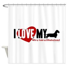 Dachshund [wire-haired] Shower Curtain
