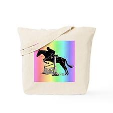 Rainbow Jumping Horse Tote Bag