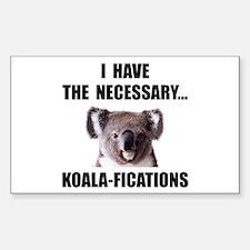 Koala Qualifications Decal