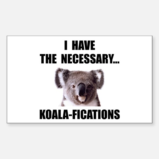 Koala Qualifications Sticker (Rectangle 10 pk)