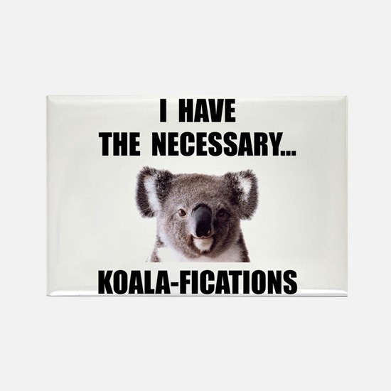 Koala Qualifications Rectangle Magnet (10 pack)