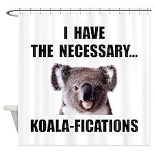 Koala Qualifications Shower Curtain