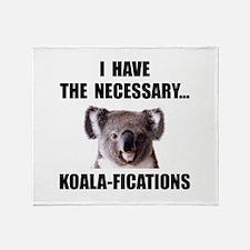 Koala Qualifications Throw Blanket