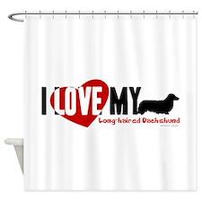 Dachshund [long-haired] Shower Curtain