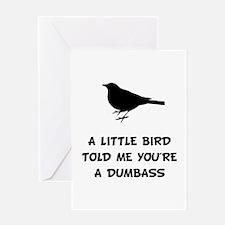 Little Bird Told Me Greeting Card