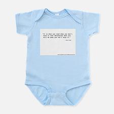 """It's what you read"" Wilde Infant Bodysuit"