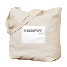 """""""It's what you read"""" Wilde Tote Bag"""