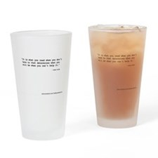 """""""It's what you read"""" Wilde Drinking Glass"""