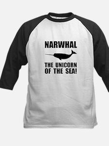 Narwhal Unicorn Kids Baseball Jersey