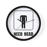 Need Head Wall Clock