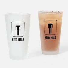Need Head Drinking Glass