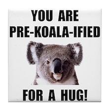 Pre Koala Qualified Hug Tile Coaster
