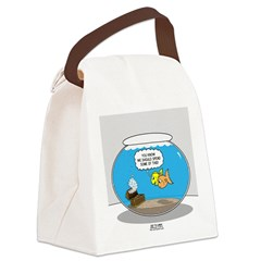 Fishbowl Treasure Canvas Lunch Bag