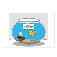 Fishbowl Treasure Postcards (Package of 8)