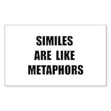 Similes Metaphors Decal