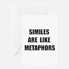 Similes Metaphors Greeting Card