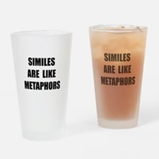 Similes Metaphors Drinking Glass