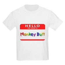 Monkey Butt Kids T-Shirt
