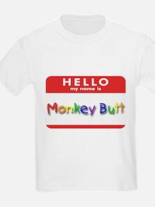 Monkey Butt Kids T-Shirt