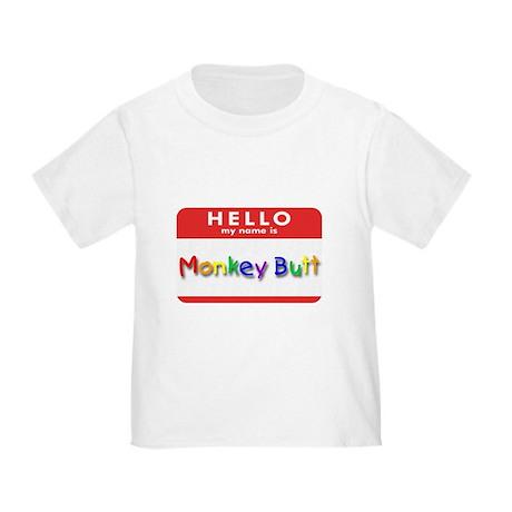 Monkey Butt Toddler T-Shirt