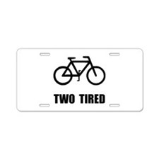 Two Tired Bike Aluminum License Plate