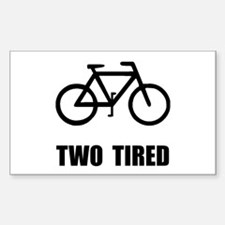 Two Tired Bike Decal