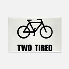 Two Tired Bike Rectangle Magnet (10 pack)